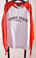 NEW Boys Urban Beach Red White Cotton Long Sleeve Tshirt Top Age 9 10 Years A66