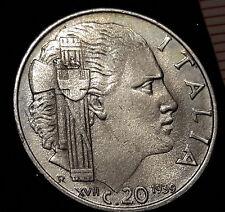 20 Centesimi 1939 XVII antimagnetica