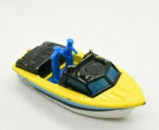 Vintage 1976 Matchbox SuperFast Police Launch Boat Die Cast Toy Rare Yellow