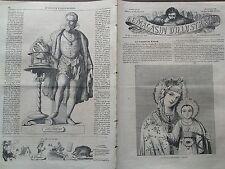"""LE MAGASIN D'ILUSTRATION 1859 N 12 """" LA VIERGE DE KAZAN """"  ICONE MARIALE RUSSE"""