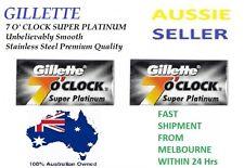 Gillette 7 O'clock Super Platinum Stainless Double Edge Safety Razor Blades New