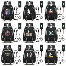 Anime Game Danganronpa monokuma Backpack School Bag Women Men Travel Laptop Bags