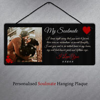 My Soulmate Personalised Metal Hanging Plaque Sign Gift Cute Valentines Love You