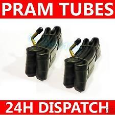 "10"" x 2 1/4 Pram Stroller Buggy Tubes BENT Valve x 2"