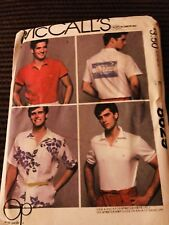 Vintage McCalls Pattern 8629 Men's Ocean Pacific Shirts Iron On Transfer Size 42