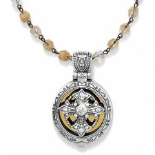 NWT Brighton Devotion RADIANCE Locket Gold Silver Rosary Necklace MSRP $108