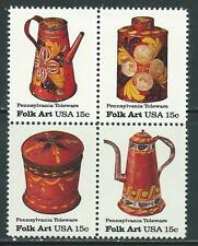 USA - MNH Block of 4  Stamps - Pennsylvania Toleware