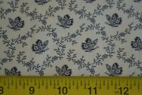 By 1/2 Yd, Black Calico on Cream Quilting Cotton, Baum Textiles, N1139