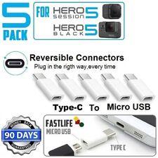 5x Micro USB to Type C Adapter Converter for LG G5 Nexus Galaxy S8, Gopro Hero 5