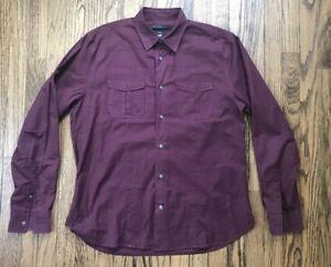 John Varvatos Lux Mens Long Sleeve Button Down Casual Shirt Size Medium