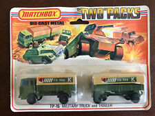 "Lesney 1975 Product - Matchbox ""Two"" Packs TP-15 Military Truck & Trailer"
