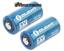 2pcs Olight CR123A 3.0V 1500mAh Lithium Battery For Surefire 6p 6px
