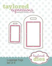 TAYLORED EXPRESSIONS  LUGGAGE TAGS DIES  TE165