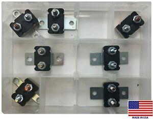 (7) Universal 12V DC Auto Reset Stud Circuit Breaker Type 1 Mounting Bracket Kit