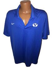 NWOT Men's Nike BYU Cougars Dri Fit Royal Blue Polo Golf shirt Size XL