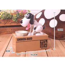 Kids Cute Choken Bako Coin Eating Dog Piggy Bank Saving Money Child gift Box NEW