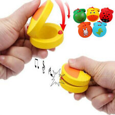 Mini Wooden Castanet Toys Beat Musical Toy for Baby Toddler Educational Toy