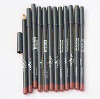 12 pcs 1018 BROWN Italia Deluxe Ultra Fine LIP Liner Pencil