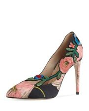 3cacc3974d3 Gucci Ophelia Embroidered 105mm Pump Black Pink 40 10
