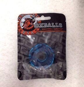 Oxball Atomic Jock Jelly Bean Cockring Ice Blue Penis Erection Ring Bigger Bulge
