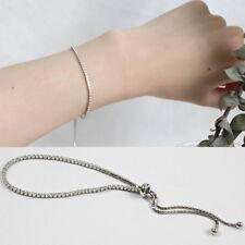 Damen Armband echt Sterling Silber 925 Zirkonia Rhodiniert  14 - 23 cm