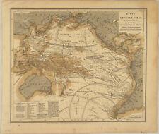 METEOROLOGIE Original Wetterkarte um 1890 Seefahrt Seekarte Nautik Australien