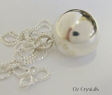 22mm Sterling Silver Pregnancy Harmony Ball Necklace  Long Sterling Silver Chain