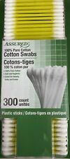 Assured 100% Pure Cotton Swabs 300 Count