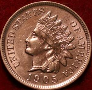 Uncirculated Red 1905 Philadelphia Mint  Indian Head Cent