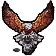 EAGLE V2 STORM BIKER Patch groß Aufnäher Aufbügler Backpatch Harley Adler USA