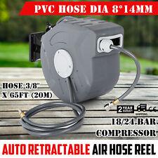 65ft 20m Air Hose Reel Retractable Auto Rewind Air Line Compressor Tools