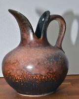 60er 70er Fischmaul Schnabel Vase Henkelvase Keramik Dümler & Breiden  15,7cm