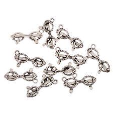 Glasses sunglasses Tibetan Silver Bead charms Pendants fit bracelet 10pcs 20*6mm
