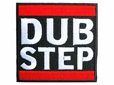 DUB STEP Logo Dance Music Embroidered Iron On Sew Shirt Jacket Hat Bag Patch