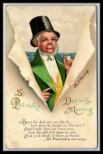 ST PATRICK'S DAY IN THE MORNING CLAPSADDLE ARTIST SIGNED POSTCARD