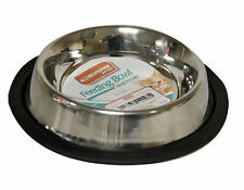 15cm Stainless Steel Non Slip Cat Bowl - Feeding Dog Puppy Dish Water Pet Food