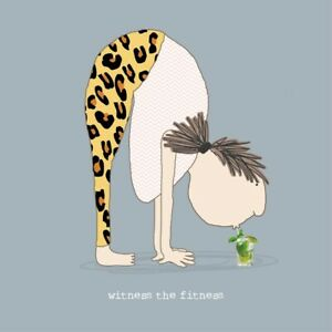 Witness the Fitness Card – Rosie Made a Thing Funny Yoga Pilates Greeting Card