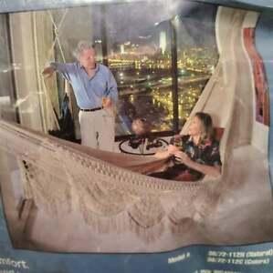 "Nicamaka Large Family Indoor Hammock Navy Blue Hand Made 112"""