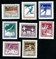 Hungary Stamps # B80-87 VF OG LH Set of 8 Scott Value $75.00