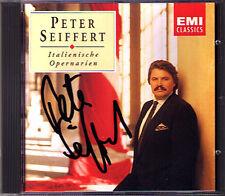 Peter Seiffert firmato Italian aria Puccini Nessun dorma Donizetti Giordano CD