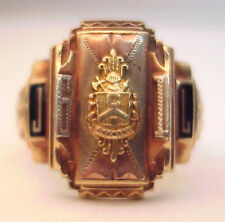 1961 Creston High School Solid 10K Tri Color Gold Class Ring, No Reserve