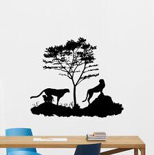 Wild Cats Wall Decal Tree Nature Vinyl Sticker Bedroom Decor Poster Mural 190hor