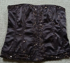 Brown Detailed Corset Style Top Size 12