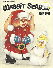 Christmas Tole Painting Wabbit Season Book One Pat Wooster 1990 Patterns Vintage