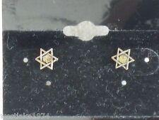 Petite Silver Star of David Stud  Earrings Brand New