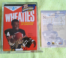 Walter Payton-Mini Wheaties Box Gold SIg.Commemorative Series 75yrs of Champions