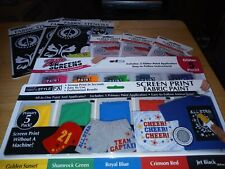 Lot Of 8 Fabric Stencils And Screen Fabric Paint