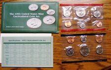 1993 Mint Set Original Envelope 10 US Coins- 1993 Kennedy Half Dollar