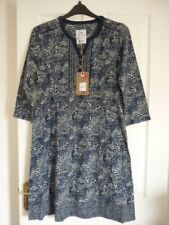 MANTARAY NAVY NATURAL BLUE FLORAL TUNIC DRESS. UK 12, EUR 38-40, US 8. BNWT FAB