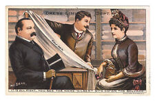 President and Mrs Grover Cleveland Shopping -  Trade Card